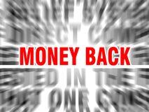 Parte traseira do dinheiro ilustração royalty free