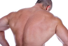 Parte traseira do homem 'sexy' atlético Imagem de Stock