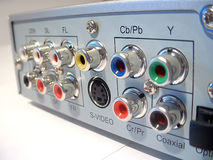 Parte traseira do jogador de DVD DIVX Imagens de Stock