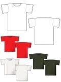 Parte traseira e parte dianteira da disposição do t-shirt Fotos de Stock Royalty Free