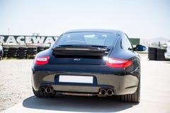 Parte traseira preta de Porsche 911 fotografia de stock royalty free