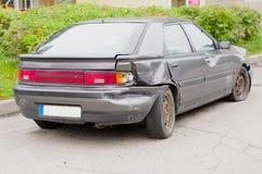 Parte traseira quebrada do carro fotografia de stock royalty free