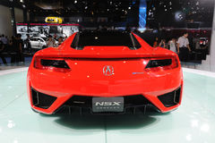 Parte traseira vermelha do conceito de Acura NSX fotos de stock