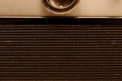 Parte trasera de la cámara de la película Opinión del primer Macro Foto de la vendimia imagen de archivo