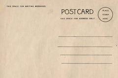 Parte trasera de la postal en blanco con la mancha sucia imágenes de archivo libres de regalías