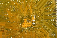 Parte trasera del tablero del circuito impreso Imagen de archivo libre de regalías