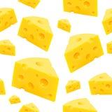 Parte triangular de textura do queijo sem emenda Vetor ilustração royalty free