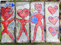 Parte velha de Berlin Wall Imagens de Stock Royalty Free