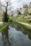 Parte velha de Luxemburgo no tempo de mola Fotografia de Stock