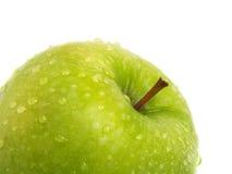 Parte verde fresca della mela Fotografie Stock