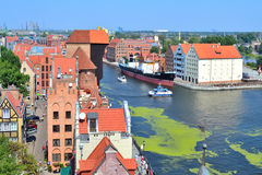 Parte-vista de Gdansk Imagens de Stock