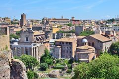 Parte-vista de Roma Foto de Stock Royalty Free