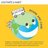 Parte y cuidado amistosos de las ideas de Eco Foto de archivo