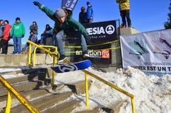Partecipante allo snowboard Fotografia Stock