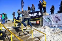Partecipante allo snowboard Immagini Stock