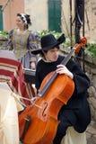 Partecipante del partito medioevale del costume Fotografia Stock