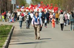 Partecipante di parata Fotografia Stock