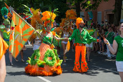 Partecipanti al der Kulturen di Karneval Fotografia Stock