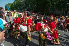 Partecipanti al der Kulturen di Karneval Fotografia Stock Libera da Diritti