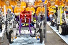 Partecipanti del terzo festival robot Tutto-Russo Immagine Stock Libera da Diritti