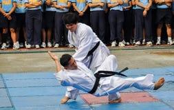 Partecipanti del torneo del taekwondo Immagini Stock