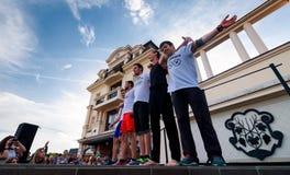 Partecipanti della concorrenza di sport all'aperto Fotografia Stock Libera da Diritti