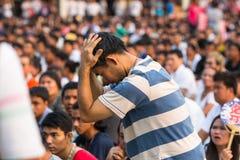 Partecipanti di cerimonia matrice di giorno a Khong capace Khuen Immagini Stock