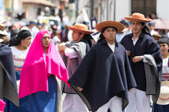 Partecipanti di Corpus Christi nell'Ecuador Fotografia Stock Libera da Diritti