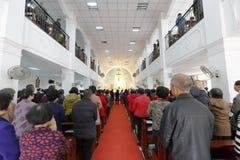 Partecipazione della chiesa dei credenti Fotografie Stock Libere da Diritti