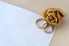 Partecipazione di nozze Fotografia Stock Libera da Diritti