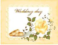 Partecipazione di nozze Fotografia Stock