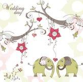 Partecipazione di nozze Immagine Stock Libera da Diritti
