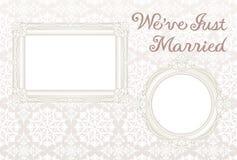 Partecipazione di nozze. Immagine Stock
