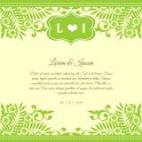 Partecipazione di nozze Immagine Stock