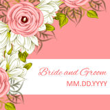 Partecipazione di nozze Immagini Stock