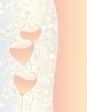 Partecipazione di nozze dei biglietti di S. Valentino giorno o Immagine Stock