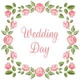 Partecipazione di nozze dell'annata Immagini Stock Libere da Diritti
