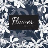 Partecipazione di nozze dell'invito con i fiori Magnolia del fiore per voi progettazione personale illustrazione di stock