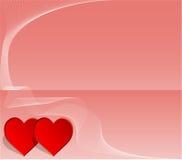 Partecipazione di nozze o del biglietto di S. Valentino Fotografie Stock Libere da Diritti