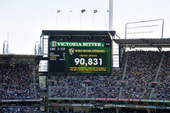 Partecipazione record al campo di cricket di Melbourne Fotografie Stock Libere da Diritti