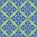 Parteern цвета мандалы zentangle чертежа руки безшовное Итальянский стиль майолики Стоковые Изображения