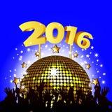 Partei des neuen Jahres 2016 Stockfoto