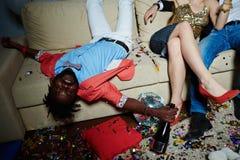 Partei des neuen Jahres mit Alkohol stockfoto