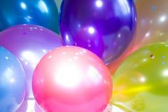 Partei des neuen Jahres steigt Hintergrundbeschaffenheitszusammenfassung im Ballon auf Lizenzfreies Stockfoto