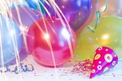 Partei des neuen Jahres steigt Hintergrundbeschaffenheitszusammenfassung im Ballon auf Lizenzfreie Stockfotografie