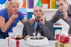 Partei für 70. Geburtstag Lizenzfreies Stockfoto