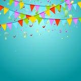 Partei kennzeichnet buntes feiern abstrakten Hintergrund Stockbild