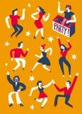 Partei mit DJ-Illustration Lizenzfreie Stockfotos