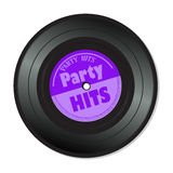 Partei schlägt Vinylaufzeichnung Stockfotos