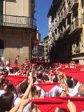 Partei Spaniens Stier Stockbild